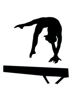 Female Gymnasts Silhouettes 2 sets, 8 png graphics.