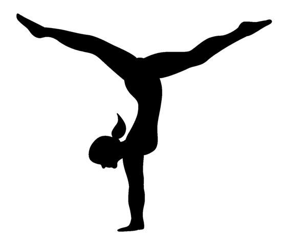 Gymnastics clipart silhouette 2 » Clipart Station.