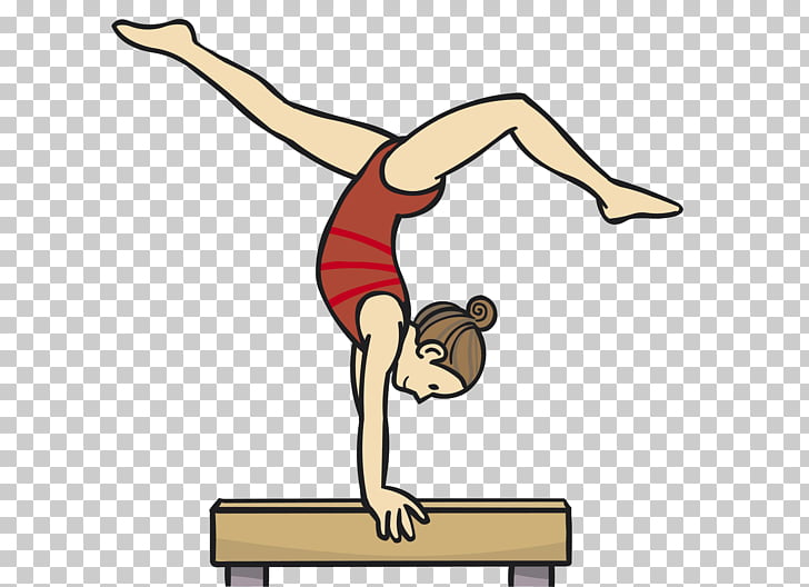 Gymnastics Balance beam, gymnastics PNG clipart.