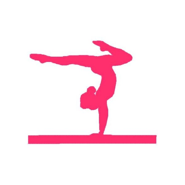 Gymnastics Clipart Silhouette Bars