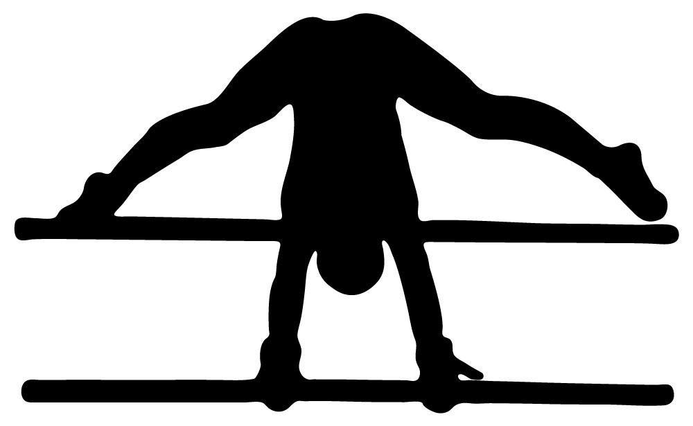 gymnastics bars clipart