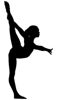 Free Printable Gymnastic Silhouettes.