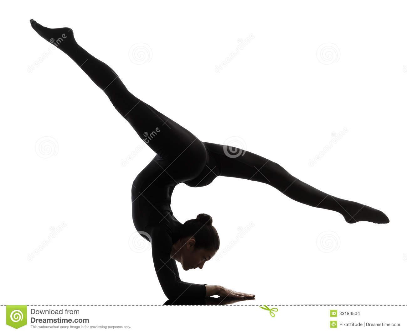 Gymnastics Silhouette Clipart.