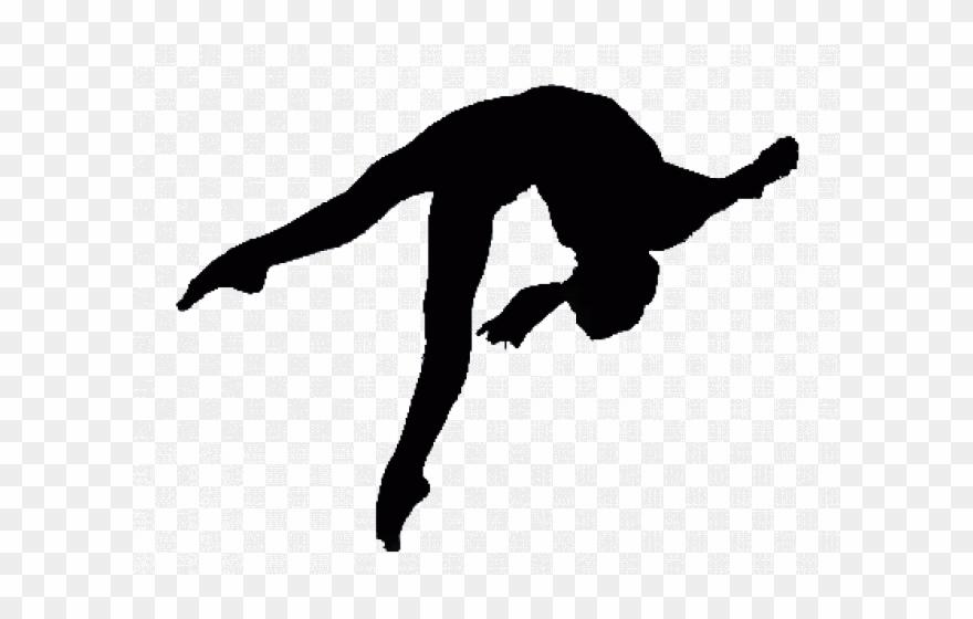 Gymnastics Silhouette Transparent Background Clipart.