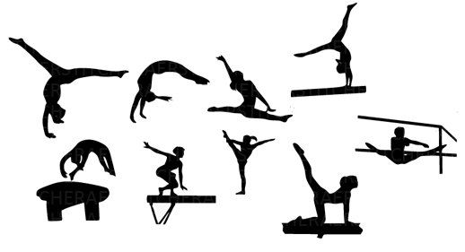 Gymnast clipart silhouette #15.