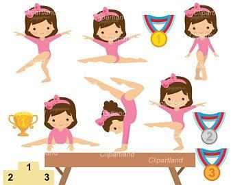 Gymnastic clipart.