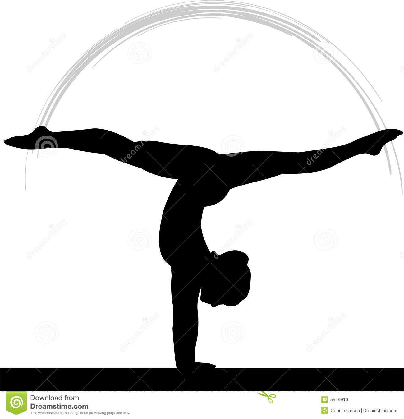 Gymnastics Clipart Silhouette Split Clipart Panda Free.