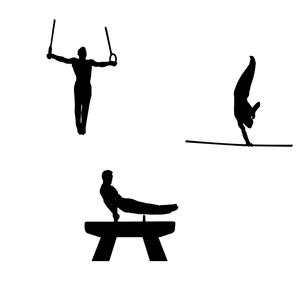 Free Vectors: Gymnastics Silhouette Free Vector.