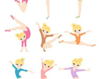 Gymnast clipart.