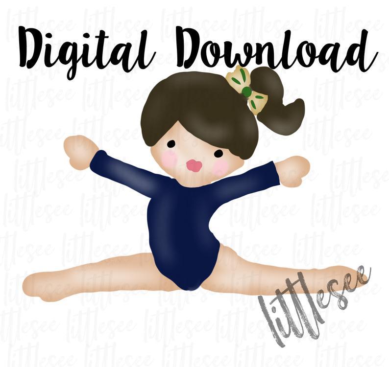 Gymnast Watercolor, Gymnast Clipart, Print and Cut Files, Watercolor  Sublimation Design Download, Digital Scrapbooking, Gymnastic Clip Art.