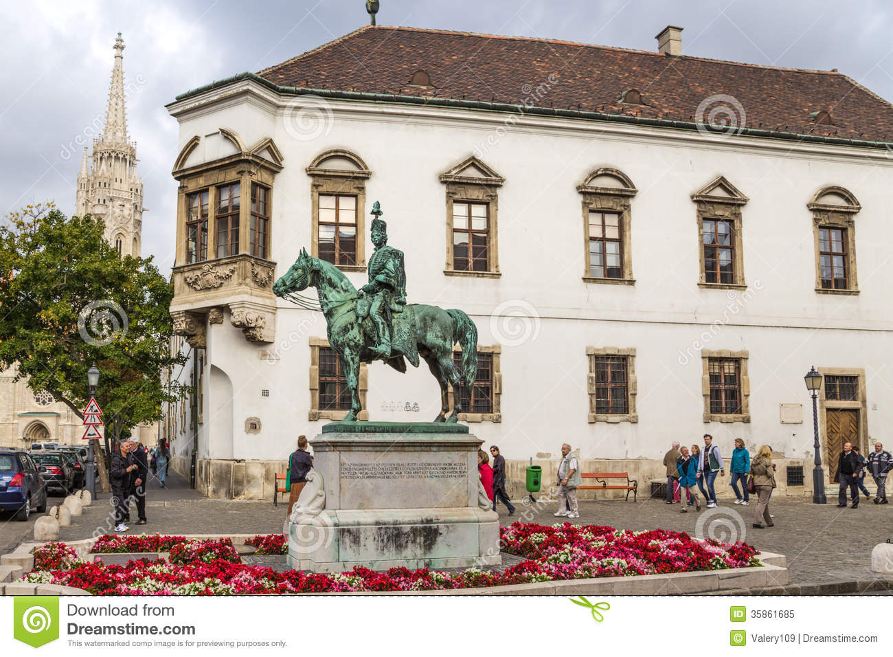 Budapest. The Statue Of Hussar General András Hadik 4 Editorial.
