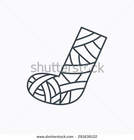 Clipart foot cast.