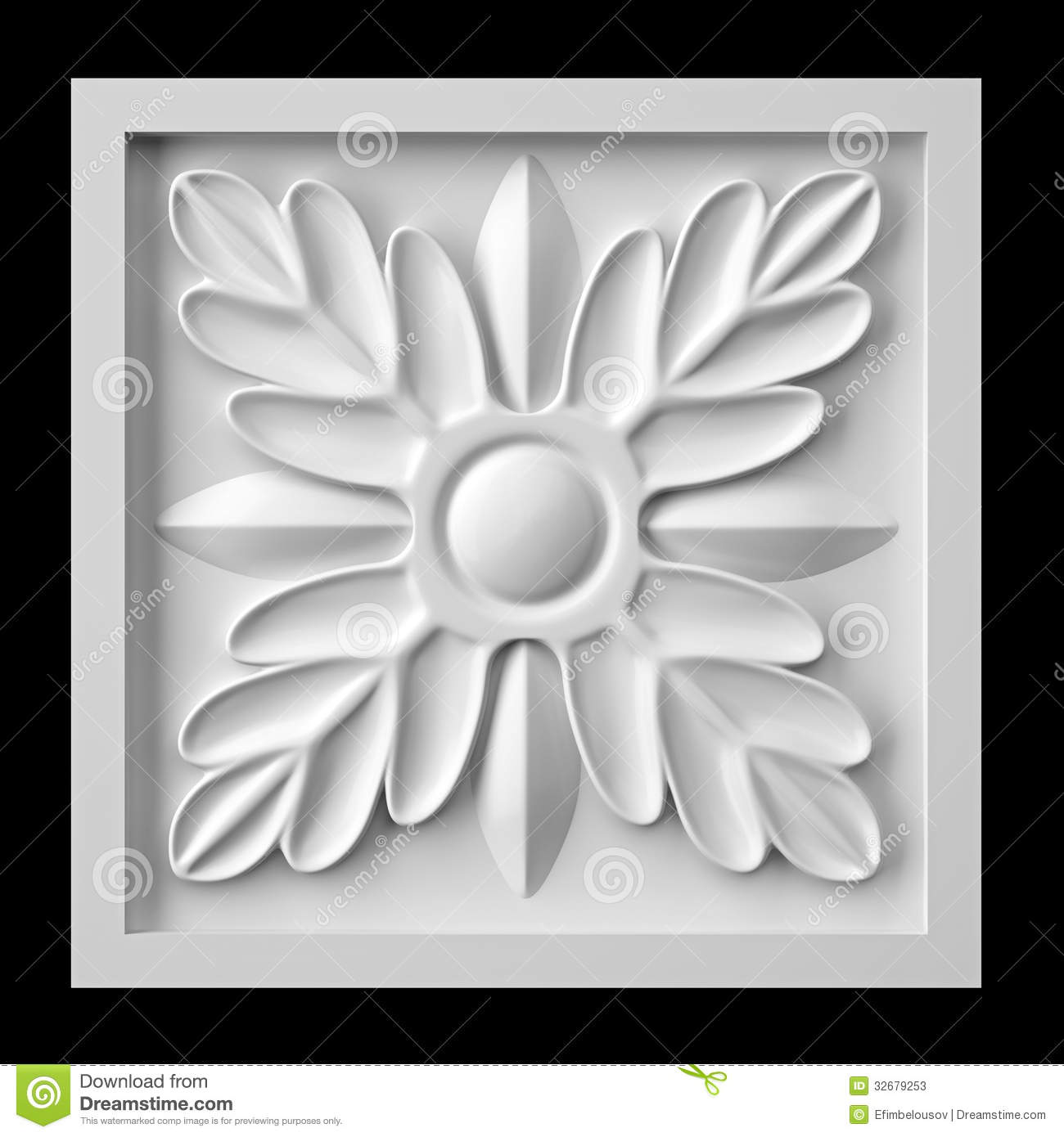 Gypsum Flower Stock Illustrations.