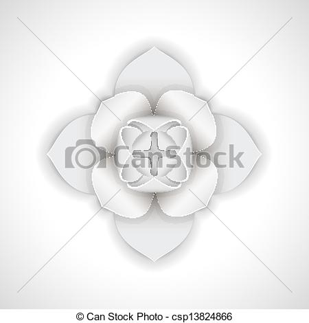 Clip Art Vector of Gypsum flower..
