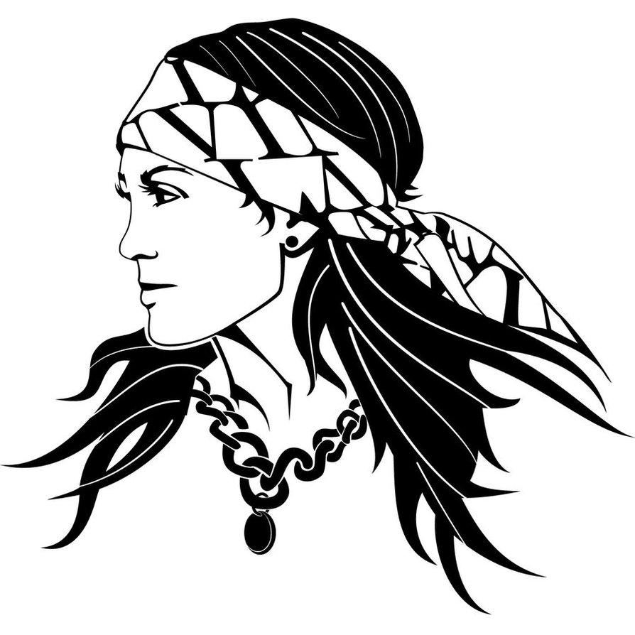 Gypsy woman clipart.