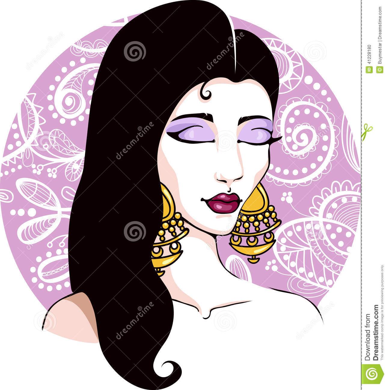Gypsy Woman Cartoon.