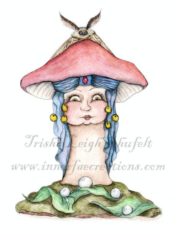 Gypsy Mushroom (c) 2013 Trisha Leigh Shufelt.