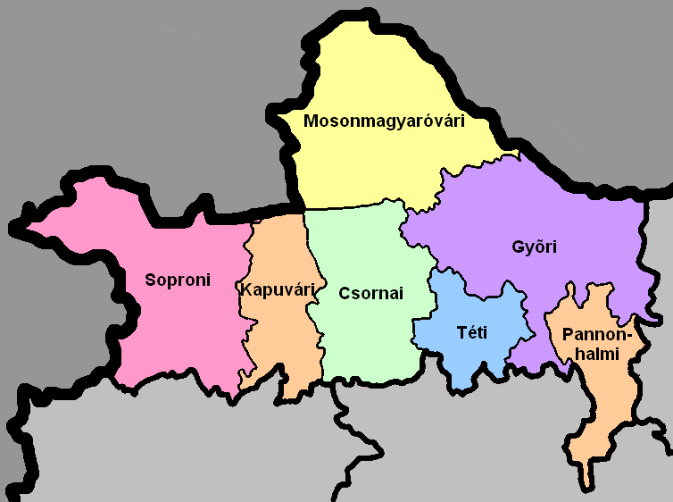 Districts of Hungary.