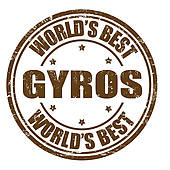 Clip Art of Gyros stamp k16330076.