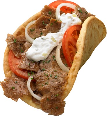 Greek Gyro Sandwich Clipart.