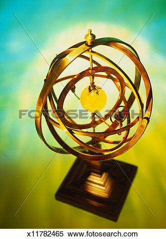 Stock Illustration of toned high angle view of an antique.
