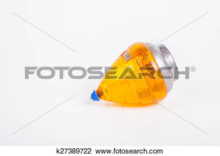 Stock Photo of gyroscopes/ spinning top on white paper background.