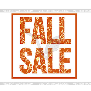Autumn seasonal sale banner design. Fal leaf.