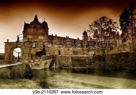 Picture of Haemelschenburg Castle near Hamelin, Weserbergland.