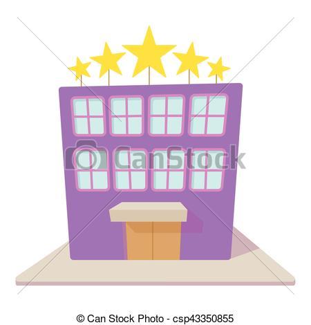Vecteur Clipart de Style, hôtel, cinq, étoiles, icône, dessin.