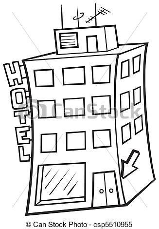 Vecteur Clipart de hôtel,.