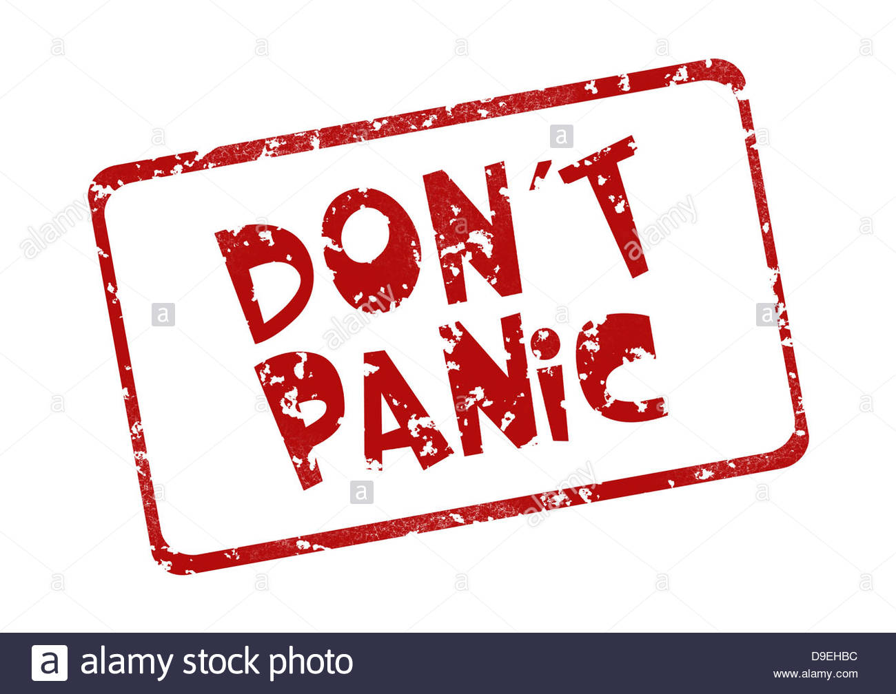 Stamp Panic Fear Anxiety Excitement Scare Stock Photo, Royalty.