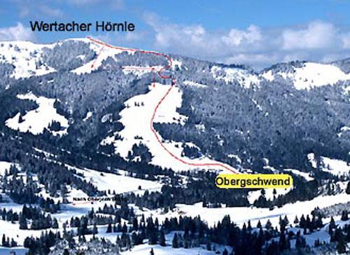 Wertacher Hörnle Skitour Allgäuer Alpen.