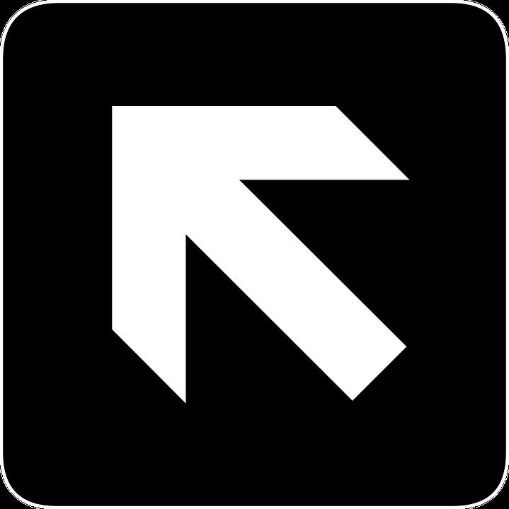 Free vector graphic: Forward, Left, North, Arrow.