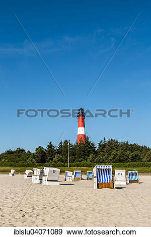 """Stock Photograph of """"Beach chairs on the beach in front of the."""