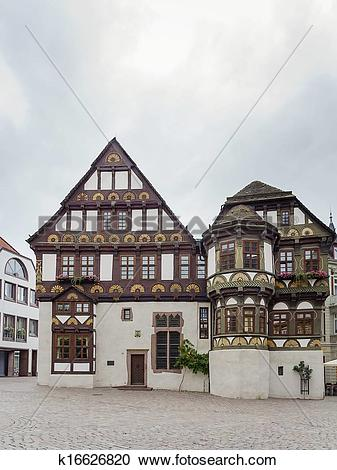 Stock Photography of Street in Hoxter, Germany k16626820.