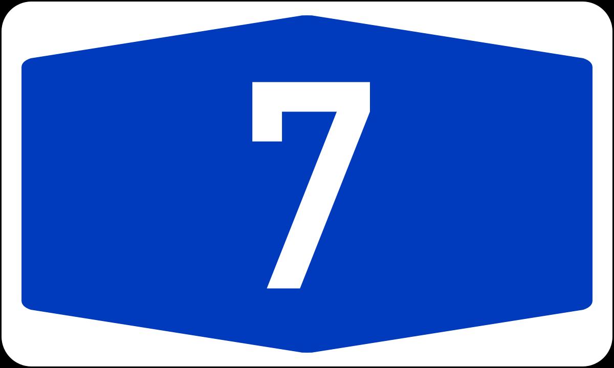 Bundesautobahn 7.