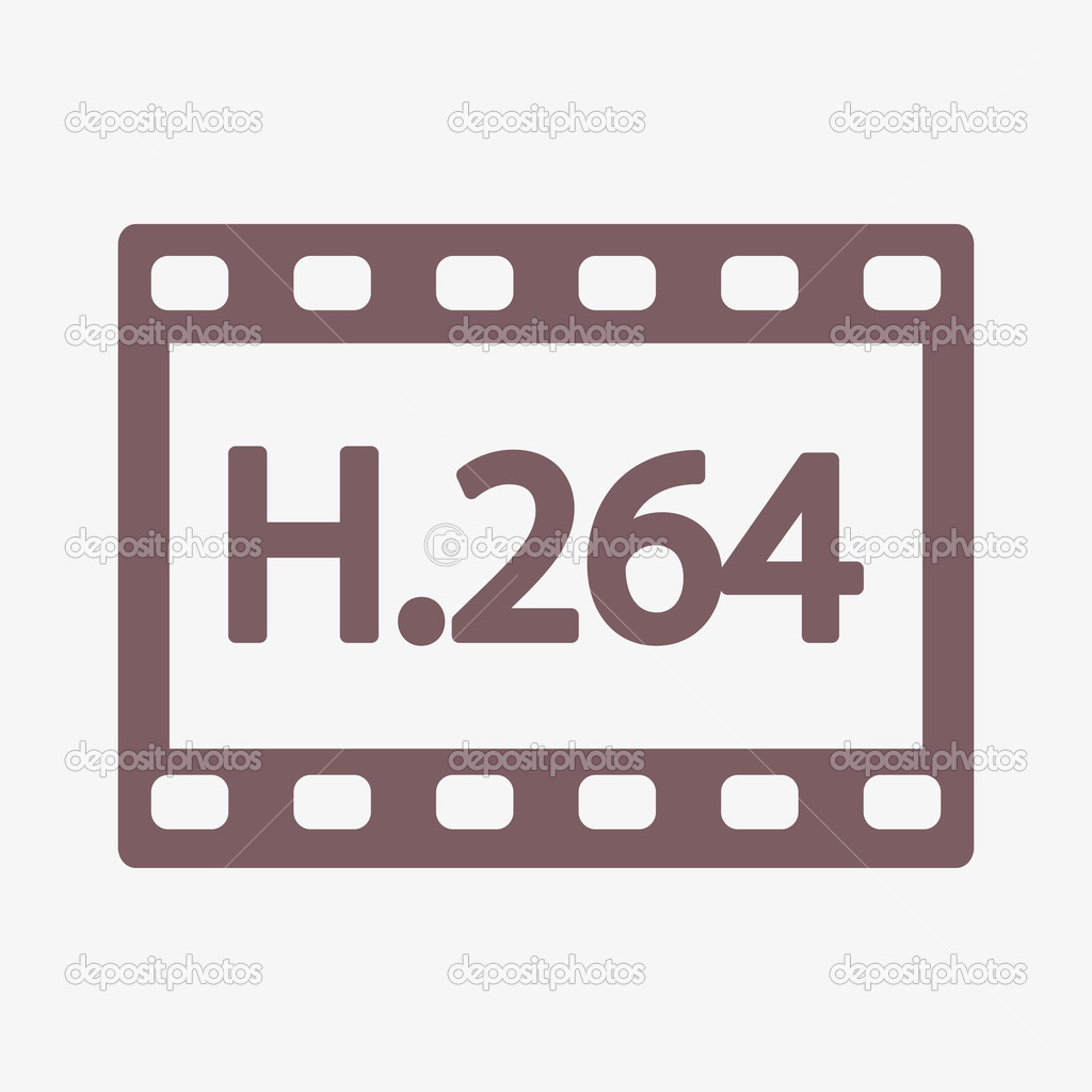 H.264 video icon — Stock Photo © Best3d #51754721.