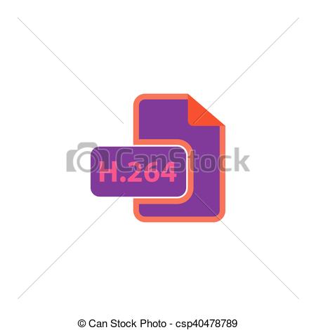 Vector of H264 Icon Vector. Flat simple color pictogram.