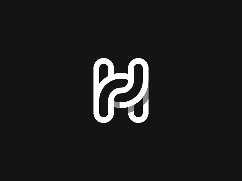 logo H symbol for hug \