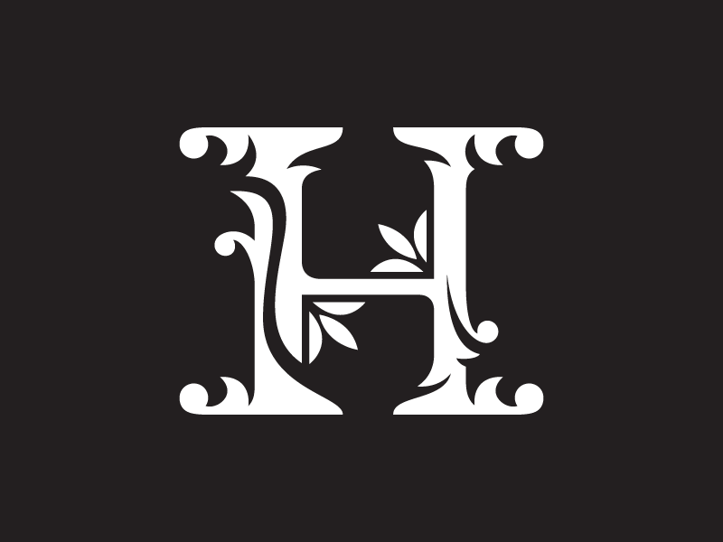 Letter H Floral Clipart by Heavtryq on Dribbble.