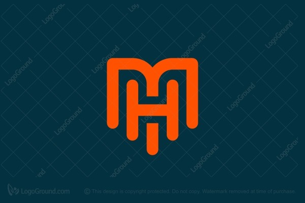 Exclusive Logo 188718, M And H Letter Logo.