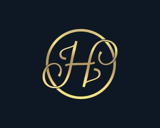 Golden H logo design Designed by user1512730669.
