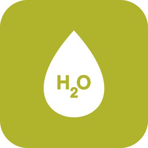 H2O Vector Icon.