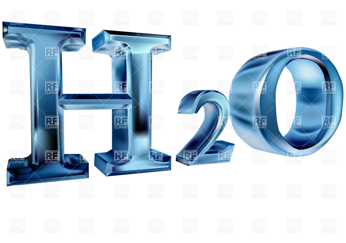 H2O letters isolated on white background Vector Image #27513.