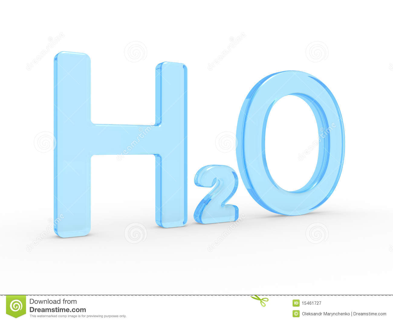 H2O Water Symbol Stock Photography.