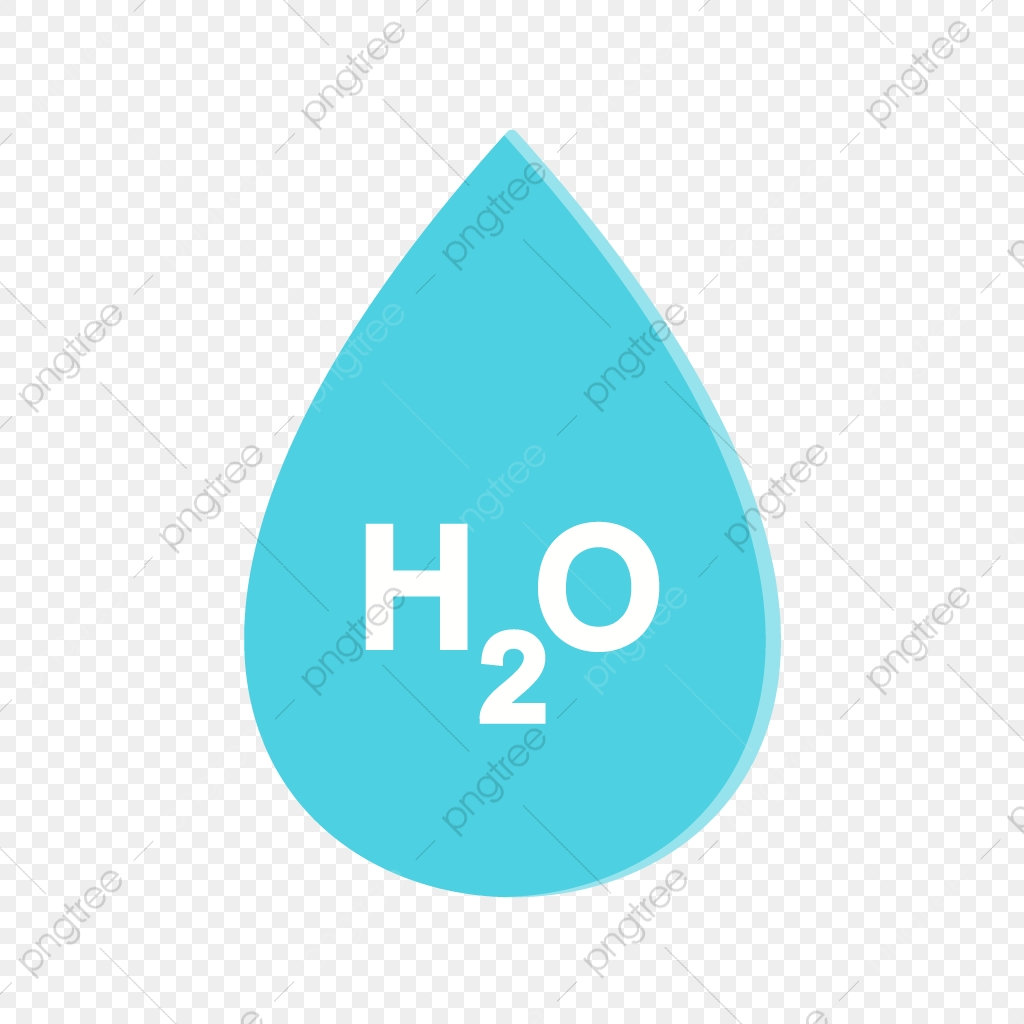 Vector H2o Icon, H20, Water, Drop PNG and Vector with Transparent.