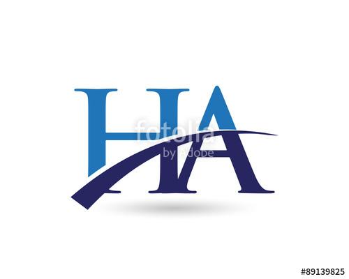 HA Logo Letter Swoosh\