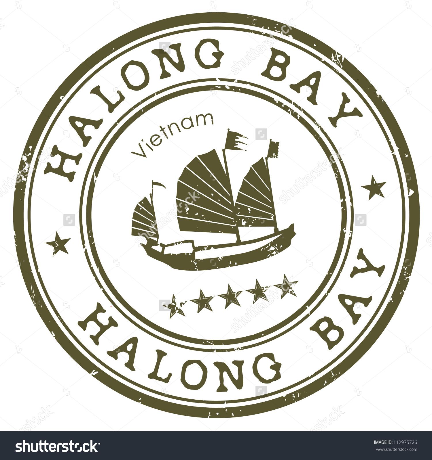 Halong Bay Stamp Stock Vector 112975726.