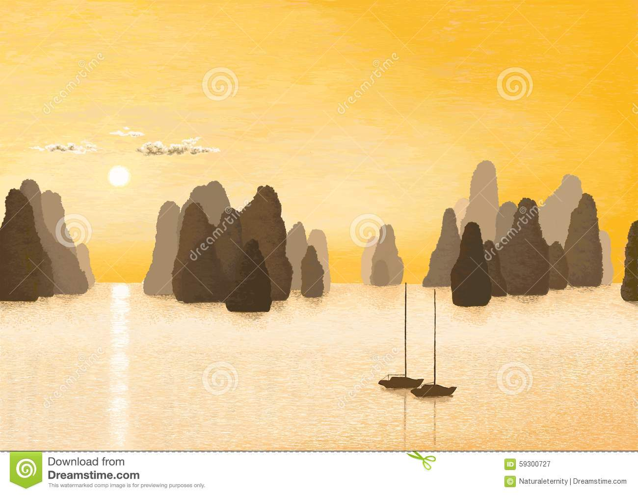 Halong bay clipart.