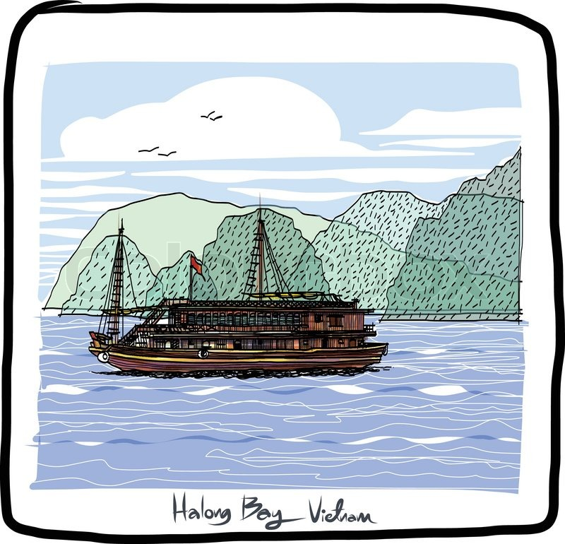 Ha Long Bay : Vietnam sketchbook..